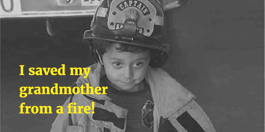 Child saves grandmother in a fire