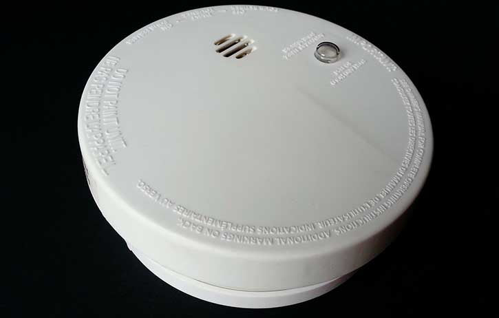Inspect your smoke detectors monthly