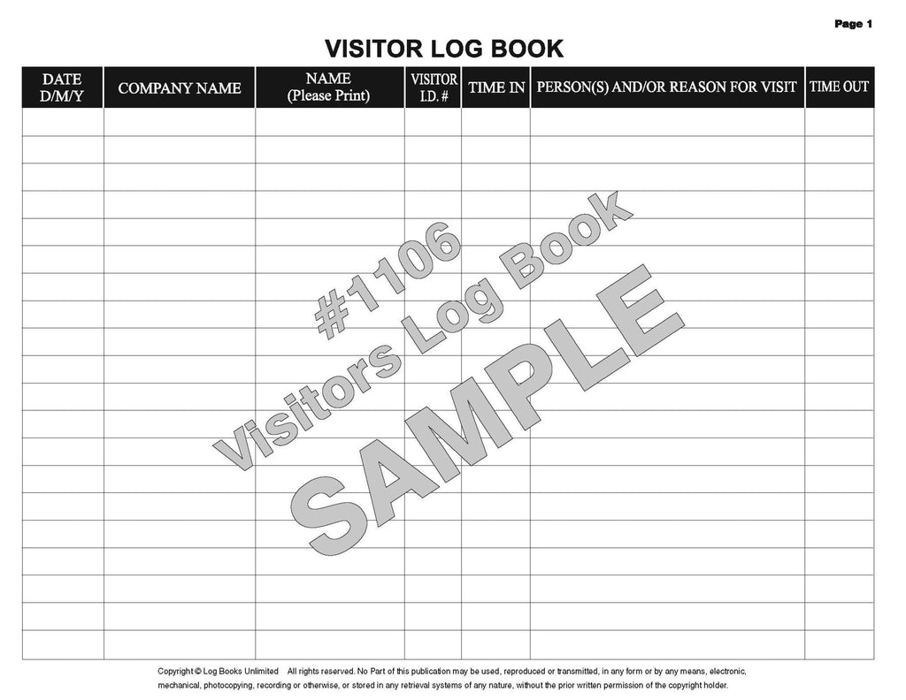 business logbook template