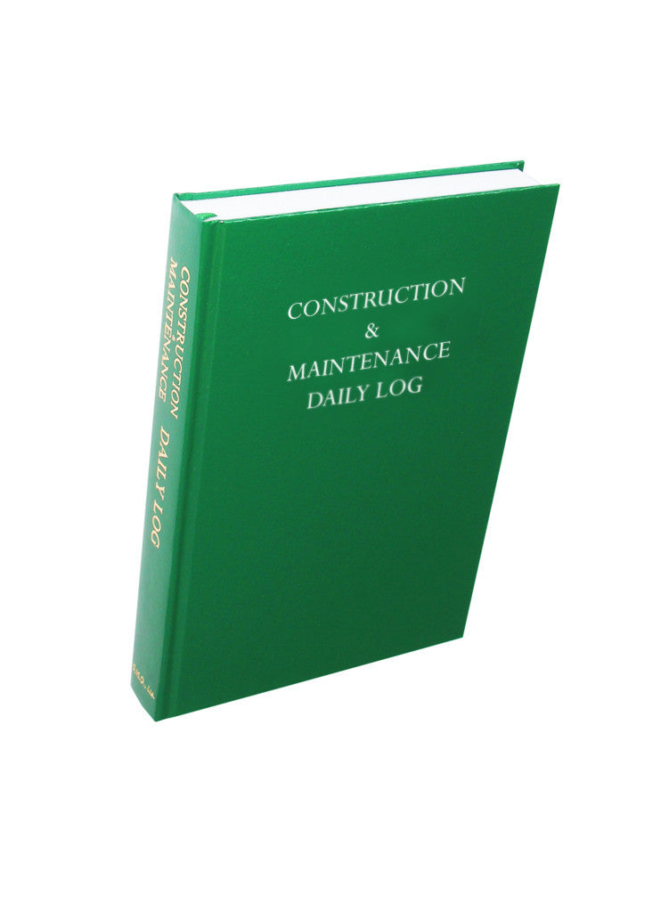The Most Widely Used Construction Log Book in the Industry | Log ...
