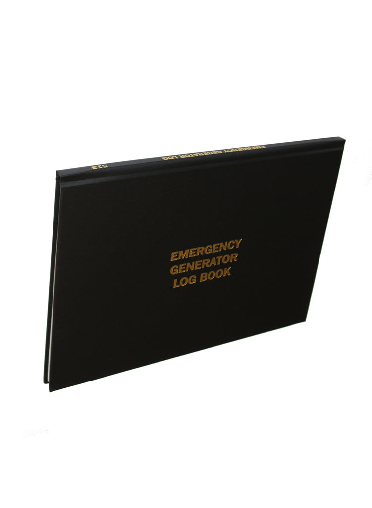 Emergency Generator Log Book 513 Log Books Unlimited
