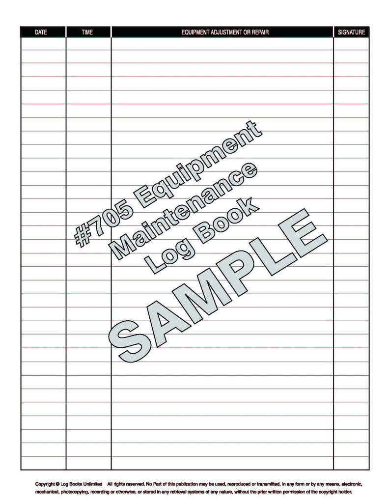 All Purpose Equipment Maintenance Log Book for Frequent Use | Log ...