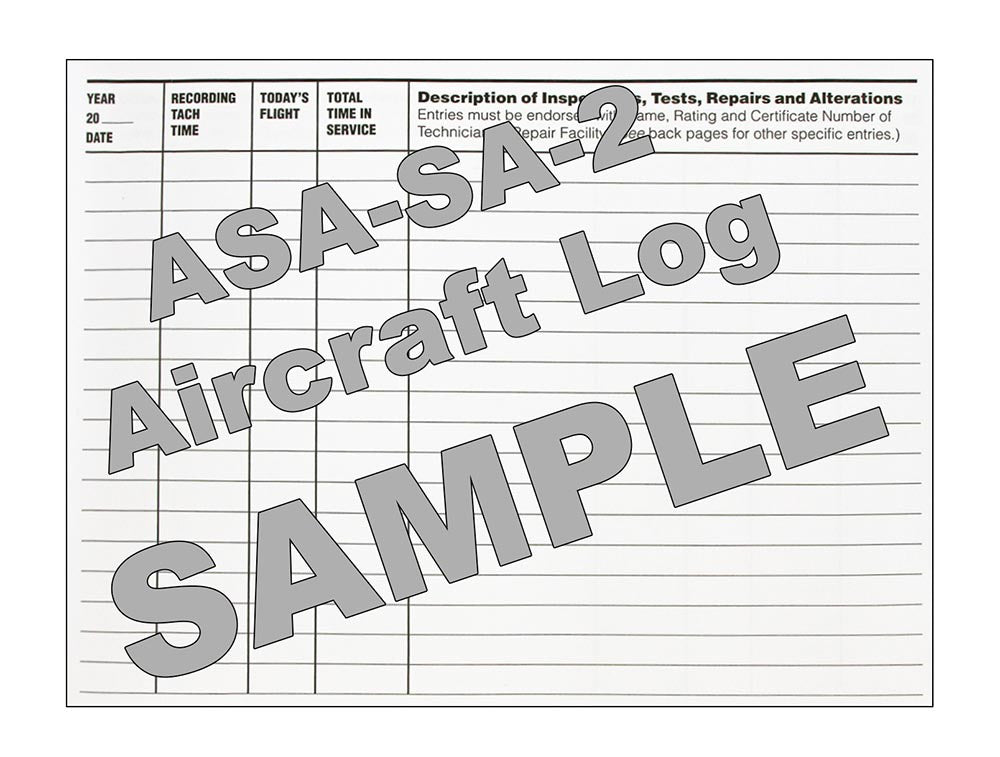 ASA SA2 Aircraft Log - Sample