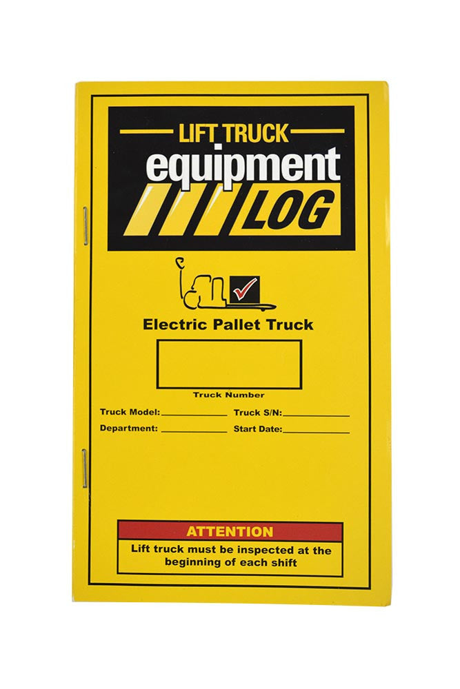 Electric Pallet Truck Log - Replacement Log #RLOG(P)