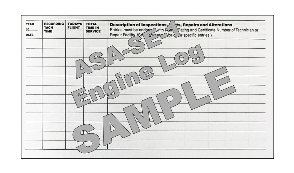 ASA Engine Log Book Sample
