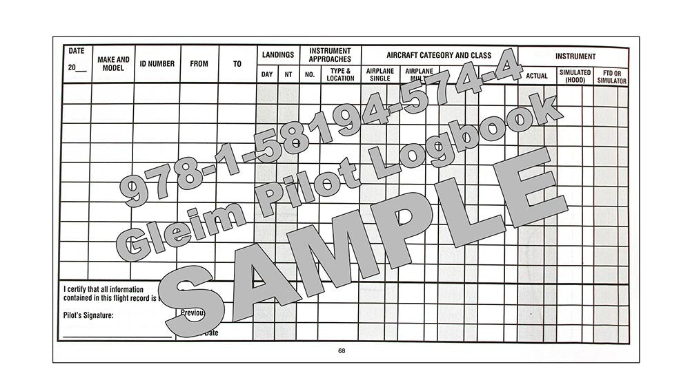 Gleim pilot log book get it today at logbooks log books gleim pilot log book sample full screen pronofoot35fo Images