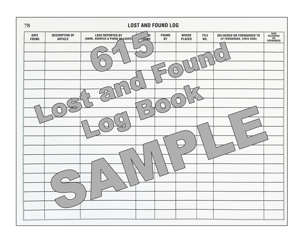 lost and found log book 615 log books unlimited your online