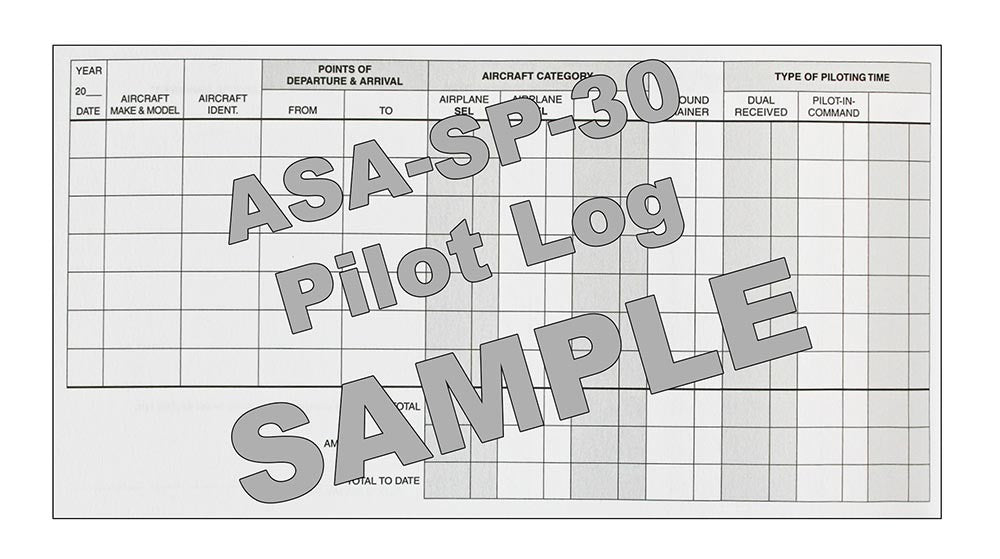 ASA Pilot Log Book - Sample