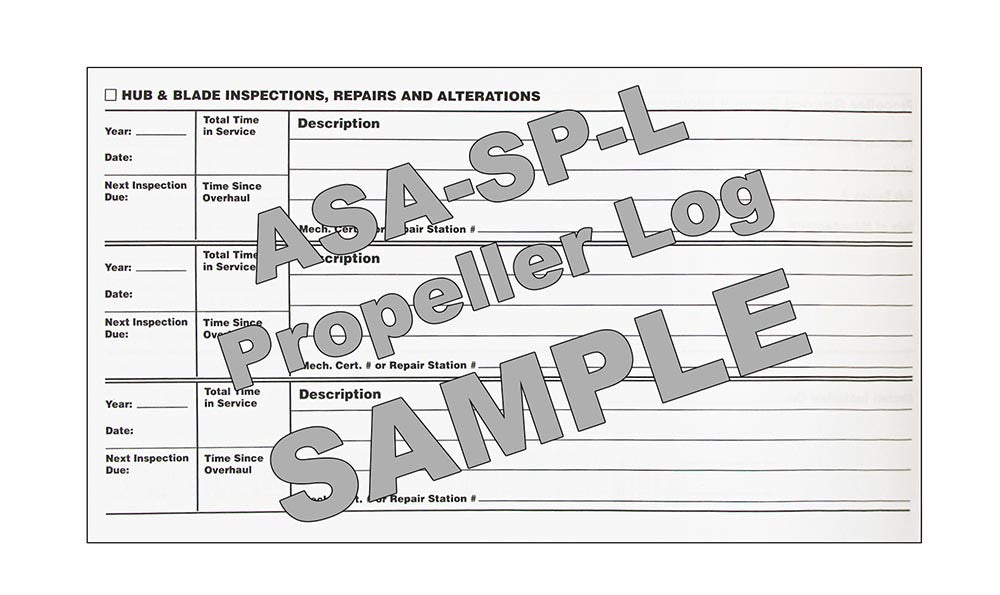 ASA SPL Propeller Log Book - Sample