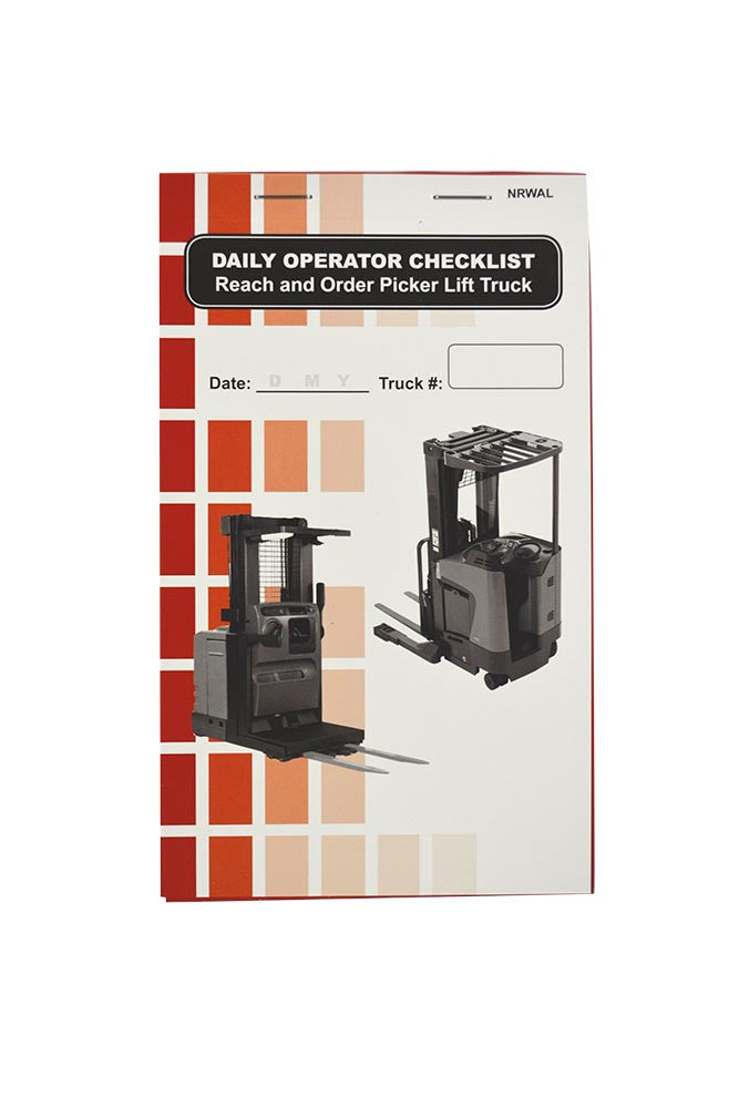Reach and Order Picker (Narrow Aisle) Lift Truck + Checklist Caddy #SCADD(N)