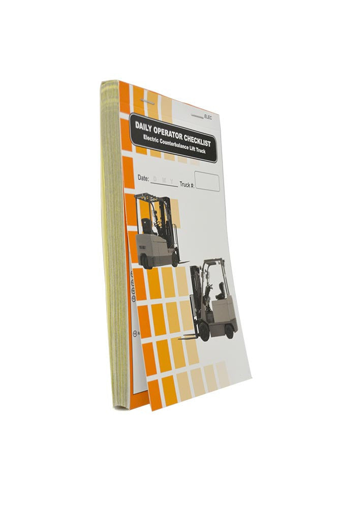Electric Counterbalance Lift Truck + Checklist Caddy #SCADD(E)