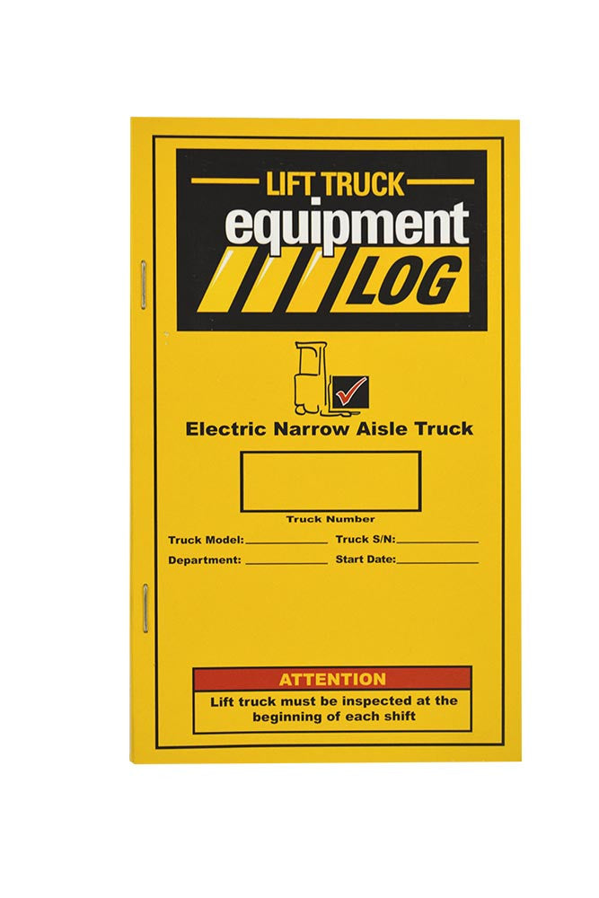 Electric Narrow Aisle (Reach & Order Picker) Truck Log - Replacement Log #RLOG(N)