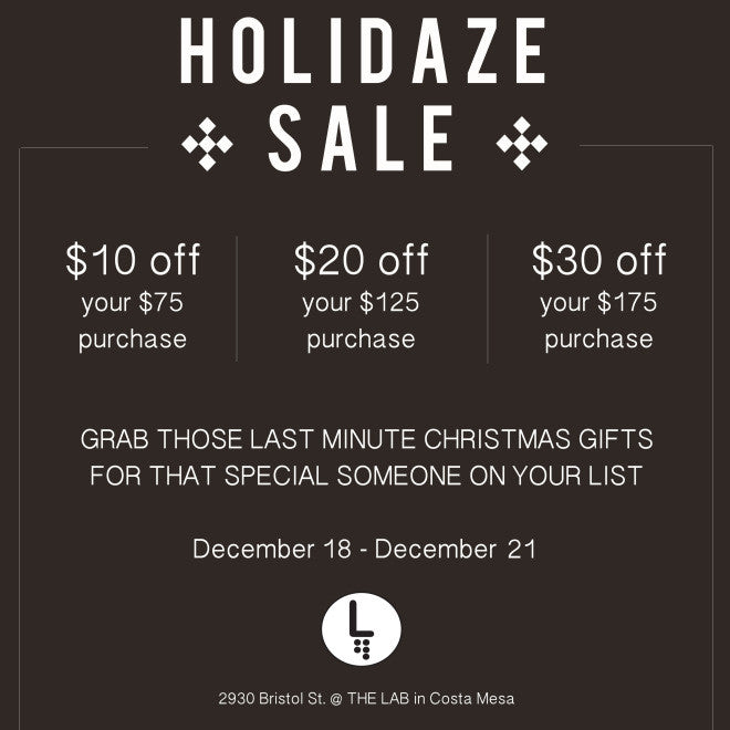 HOLIDAZE SALE