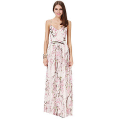 Sally Long Chiffon Cross Back Maxi Dress