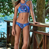 Alyona Crochet High Neck Bikini - Lobby