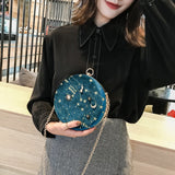 Lilly Starry Sky Circular Suede Purse - Lobby