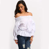 Vivien Off The Shoulder Bow Long Sleeve - Lobby