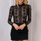 Belle Black Lace Long Sleeve - Lobby