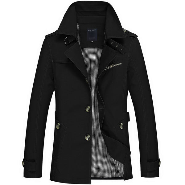 Lance Spring Windbreaker Long Trench Coat - Lobby