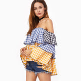 Sharleen Big Ruffle Layer Picnic Blouse - Lobby