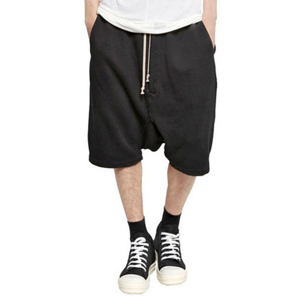 Marcel Black Baggy Drop Shorts - Lobby