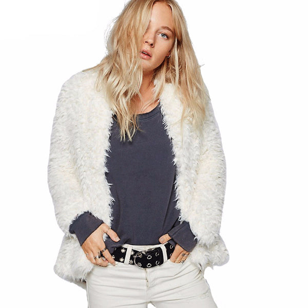 Pammy White Fur Jacket - Lobby