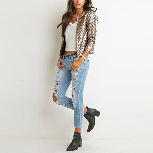 Noelle Gold Sequin Jacket - Lobby