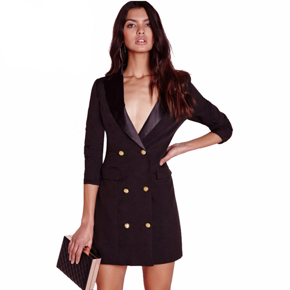 Penelope Black Blazer Dress - Lobby