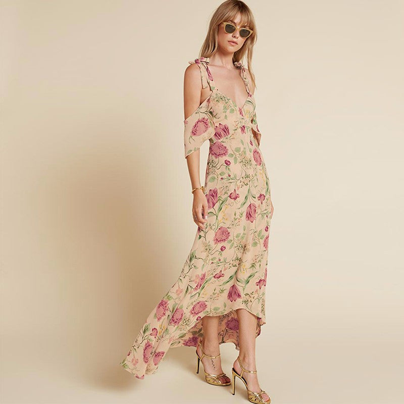 Sophy Tan Floral Maxi Dress - Lobby