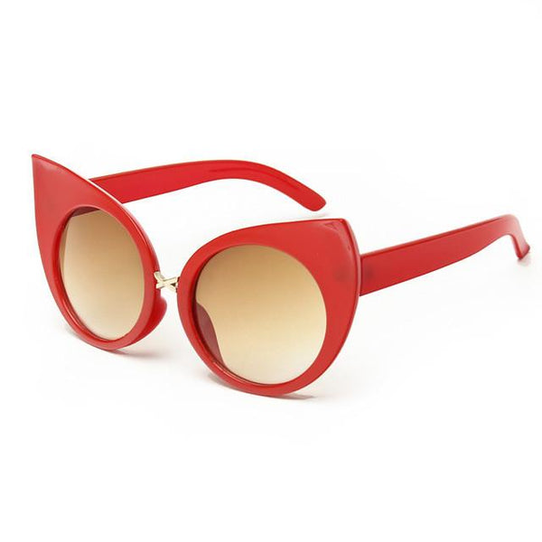 Abby Vintage Cat Eye Sunglasses - Red - Lobby