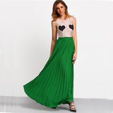 Patra Green Pleated Empire Skirt - Lobby