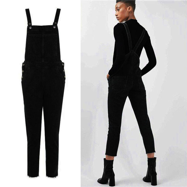 Olivia Black Overall Pocket Trousers - Lobby