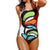 Kasey Block Art One Piece Swimsuit - Lobby
