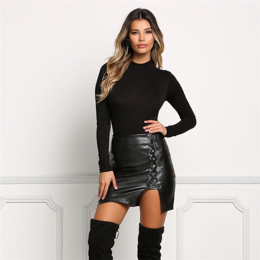 LORDXX Vegan Leather Mini Black Bandage - Lobby
