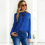 Ethel Bow Tied Blouse - Lobby