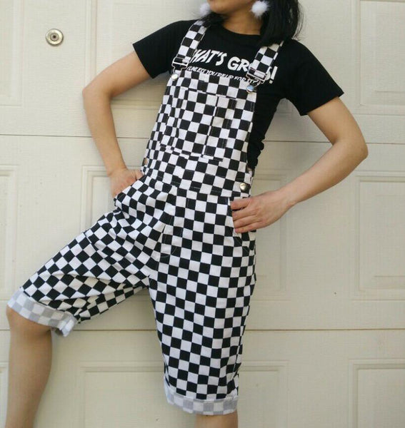 Janessa Checkerboard Plaid Jumpsuit Overalls - Lobby