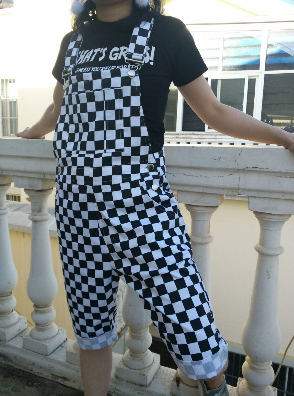 8c62d865ca3 Janessa Checkerboard Plaid Jumpsuit Overalls – Lobby
