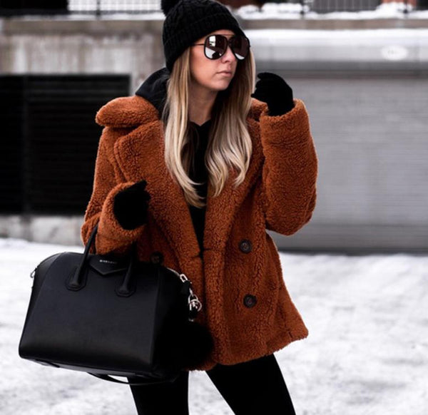 Winter Faux Fur Teddy Bear Coat - Lobby