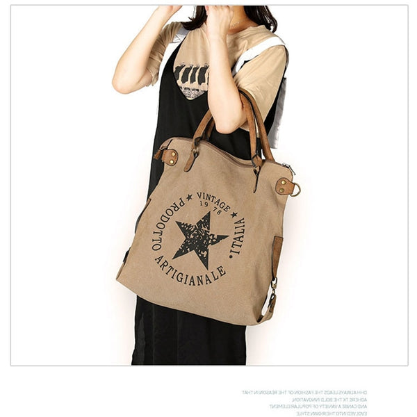 Shasta Canvas Vintage Star Shoulder Bag - Lobby
