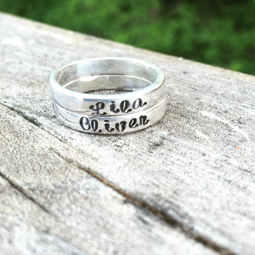 Custom stacking rings - Sterling Silver