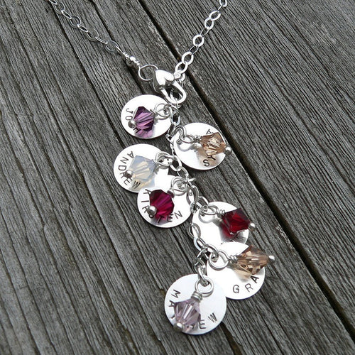 Cascade Mothers or Family Necklace