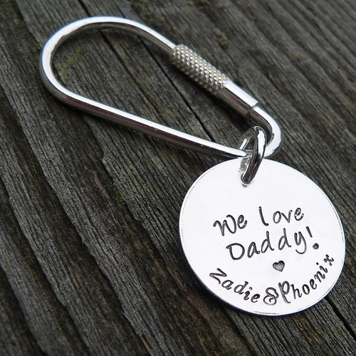 Custom Stamped Solid Sterling Silver KEYRING