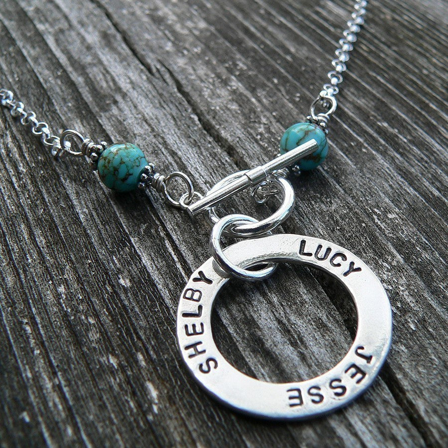 Mothers' Circle Necklace - Front Toggle Edition