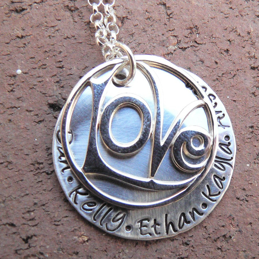 Love All Around...Custom Sterling Necklace
