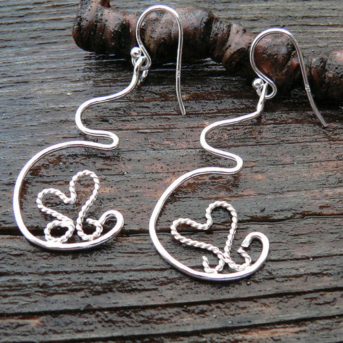 Dancing Heart Pregnancy Earrings