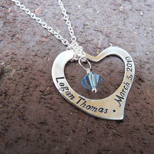 Captive Heart...Custom Sterling Necklace