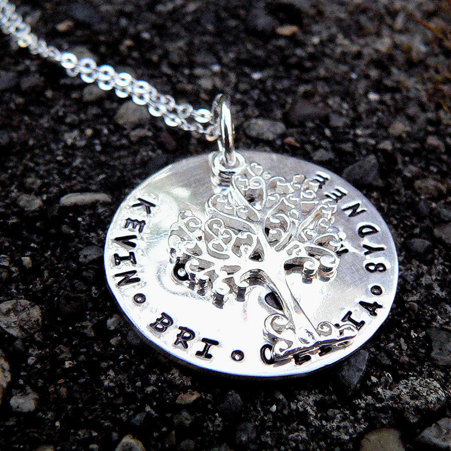 I Am Complete. Custom Sterling Family Tree Necklace.