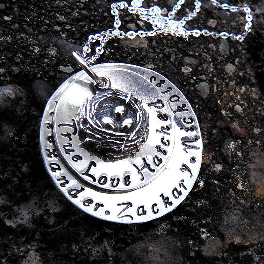 True Love Hatched...Custom Sterling Necklace