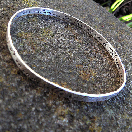 An Invisible Red Thread... Solid Sterling Silver Adoption Bangle
