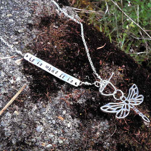 Custom Enscribed Secret Message Necklace